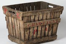 古い木の箱