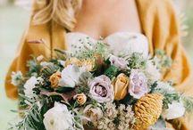 Mustard + Organic + Velvet Wedding