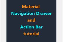 Navigation Drawer and Action Bar Tutorial / Navigation drawer and action bar tutorial with readily deployable source code. http://learnsauce.com/androidnavdrawer/