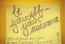 petite post it project / Petite Post-it Project is a series project that I started in 2015 where I leave behind little post-its with hand lettered inspirational quotes in all kinds of places for people to discover. Here are photos of the post-its and a little about where I left them.