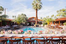 palm springs pool wedding