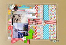 Scrapbooking with a 6x6 paper pad / Scrapbook layouts made with 6x6 paper pads