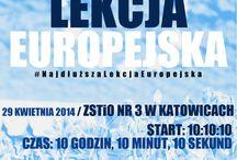 Najdłuższa Lekcja Europejska / 29 kwietnia zapraszamy Was do Katowic, gdzie odbędzie się #NajdłuższaLekcjaEuropejska – europejski maraton, którego celem jest świętowanie 10. rocznicy członkostwa Polski w Unii Europejskiej.