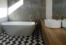 Bathroom White Béton