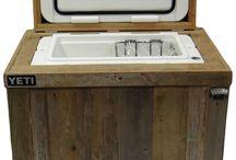 Outdoor Rustic Cooler / YETI cooler