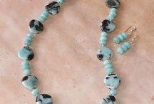 Amazonite Gemstone Beads and handmade jewelry