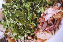 Warm Scottish Smoked salmon and watercress salad