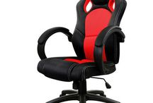 Office Computer Chair Desk Gaming Luxury Home Wheels Seat Swivel Executive Red