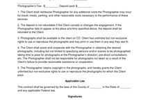 Photography Contracts
