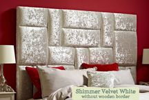 Bold Print Headboards / You can contrast a bold headboard with subtle bedroom colours to create a striking focal feature in the bedroom