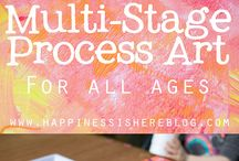 multi-stage process art
