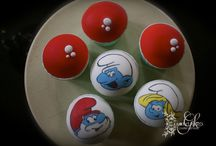 Smurf cookies & cupcakes / Smurf baptism treats