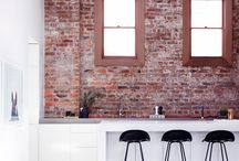 warehouse conversion / Warehouse conversions combined with modern and minimal furniture and homewares. An ideal place for lovers of exposed brick and concrete.