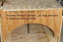 Pottery wheel handmade