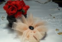 Diy Flower Hair Accessories / https://www.youtube.com/watch?v=aXgGt-iCy0c