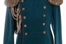Russian tsar's uniforms