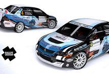 PRW Racing - R. Kirnig (Mitsubishi Lancer Evo IX) / Design and wrap of Mitsubishi Lancer Evo IX for R. Kirnig. First seen at Rally Lužické hory 2012.
