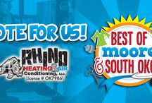 Best of Moore & South OKC Awards / Awesome news! Rhino Heating and Air has been nominated as the best heat and air in Best of Moore & South OKC Awards! Show your support and cast your vote! http://mooremonthly.com/best-of-moore-and-south-okc