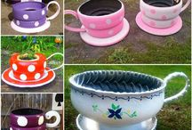 RECYCLED TYRE GARDENS/POTS