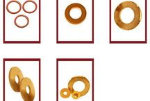 Washers Brass Copper / A thin plate normally in the shape of a disk with a hole in the middle is called as a washer. It used to distribute the load on a fastener such as a screw or a bolt. It is generally threaded to receive the bolt or screw.  We make copper washers in all dimensions and sizes. Presently we offer Copper washers and Brass washers in the range of 0.3mm to 5mm in terms of thickness.