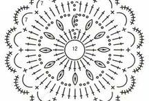 Схемы вязанных цветов / схемы для вязания крючком
