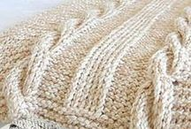 knitted throw rugs