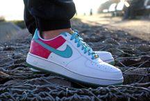 Nike Air Force 1 '07 315122-141 'White/ Aqua-Metallic'
