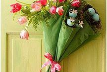 Decoración con flores y plantas