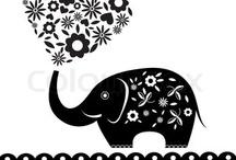elephants and peacocks / by Dani M