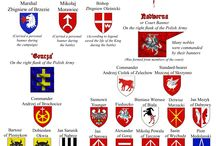 Banners&coat of arms in Grunwald battle