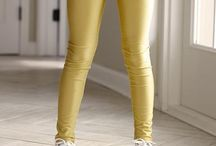 Gold metallic leggins