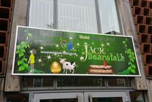 Jack beanstalk sign fitted sponsored by Tempest Ford