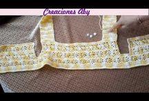 Crochet y tela vestidos