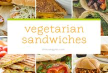 Vegan, Vegetarian Sandwiches, tacos,wraps etc. / Hand held food, of all types.