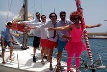 Despedida Soltero / una divertida despedida de soltero a bordo de un velero Sun Fast 37 en Marina rubicón