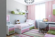 """Дизайн детской от студии """"Печёный"""" / Дизайн интерьера детской комнаты для мальчика и девочки. Современный стиль, неоклассика."""