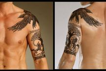 Upper arm tattoo