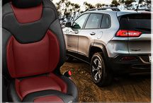 Jeep Interiors - Custom Leather Upholstery Kits for On or Off Roading Comfort / Replacement Leather Upholstery for Factory Cloth or Worn Leather Jeep Seats - Customizable Logos, Stitching, and Colors!