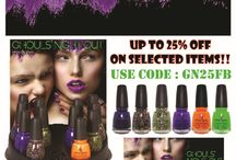 CHINA GLAZE - GHOUL'S NIGHT OUT COLLECTION - Halloween 2015 / CHINA GLAZE - GHOUL'S NIGHT OUT COLLECTION - Halloween 2015