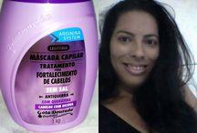 Resenha:Máscara de tratamento para cabelos com escova gota doura.