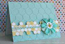 stampin up hexagon card stuff