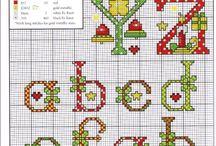 Embroidery alphabet -  (Christmas)