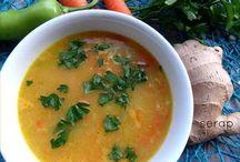 Kış çorbası zencefilli