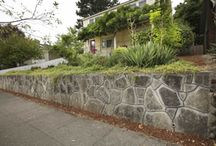 Retaining Walls / We are a general contractor specializing in the building of Retaining Walls made from a variety of materials, but specializing in recycled concrete walls and patios.  These photos are retaining wall ideas, designs and examples of what we've done and do.