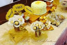 golden anniversary / styled by polkadotcelebrations.com