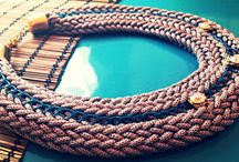 Knitted jewelry / handmade knitted jewelry. Eveything here is made of FUN | PLAY | COLOUR