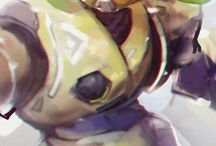 Orisa/Bastion / Please support these talented artists~  ☆All photos contain sauce☆