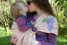 For babies by OniConcept / Linen ring sling and marsupiu