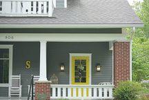 Exterior house colours to enhance dark brick