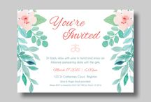 Invitations / Wedding invitations | w doing stationery | baby shower invitations | baby announcement | birthday invitations | party invitations | event stationery |